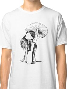 Girl under the mushroom Classic T-Shirt