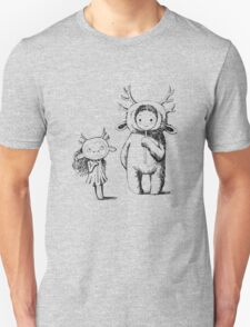 Girl and a monster Unisex T-Shirt