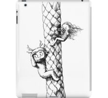 Girl and a monster on a palm tree iPad Case/Skin