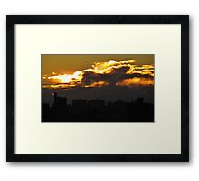NYC sunset clouds Framed Print