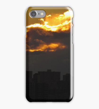 NYC sunset clouds iPhone Case/Skin