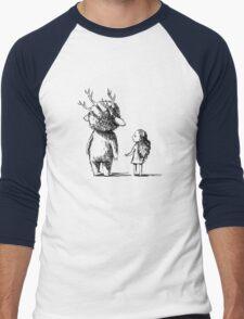 Girl and a monster Men's Baseball ¾ T-Shirt