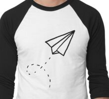 Paper Plane Men's Baseball ¾ T-Shirt