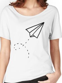 Paper Plane Women's Relaxed Fit T-Shirt