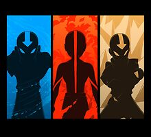 Avatar Aang Elements by KumaGenis