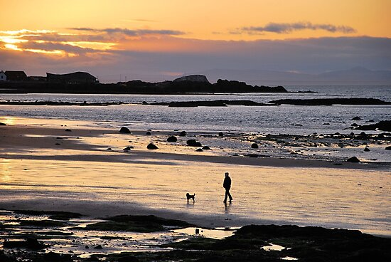 Last Walk Of The Day. by Lindamell