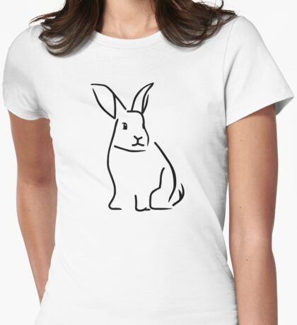 Bunny Womens Fitted T-Shirt