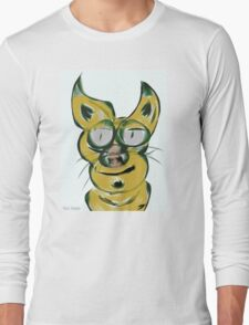 Cat Impression Long Sleeve T-Shirt