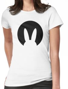 Bunny moon night Womens Fitted T-Shirt