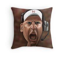 Husker's Football Coach Bo Pelini Throw Pillow