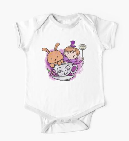 Mad hatter teacup party One Piece - Short Sleeve