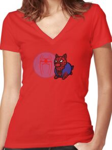 Spider Ham Women's Fitted V-Neck T-Shirt