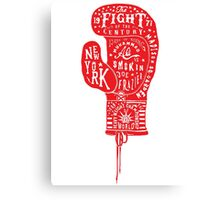 Boxing Glove Typography - the Fight of the Century Canvas Print
