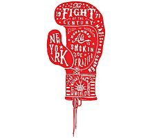 Boxing Glove Typography - the Fight of the Century Photographic Print