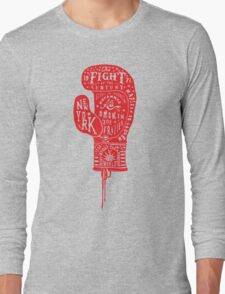 Boxing Glove Typography - the Fight of the Century Long Sleeve T-Shirt