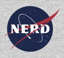 NASA Nerd Logo Parody One Piece - Long Sleeve