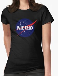 NASA Nerd Logo Parody Womens Fitted T-Shirt