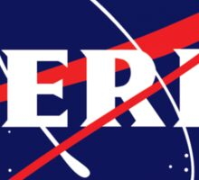 NASA Nerd Logo Parody Sticker