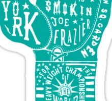 Boxing Glove Typography - the Fight of the Century - green Sticker
