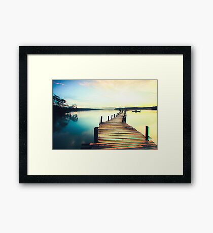 A Bridge To Brightness Framed Print