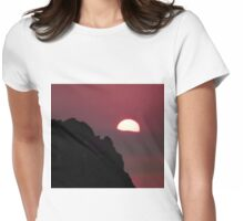 Pink Sky in Lindos Womens Fitted T-Shirt