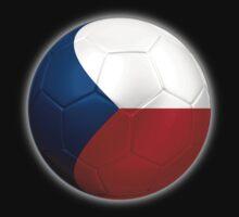 Czech Republic - Czech Flag - Football or Soccer 2 by graphix