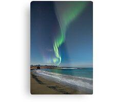 Auroras at the beach Metal Print