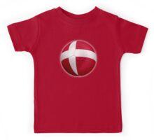Denmark - Danish Flag - Football or Soccer 2 Kids Tee