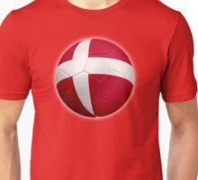 Denmark - Danish Flag - Football or Soccer 2 Unisex T-Shirt