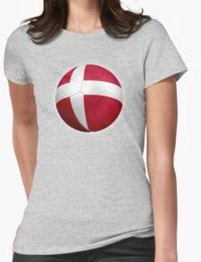 Denmark - Danish Flag - Football or Soccer 2 Womens Fitted T-Shirt