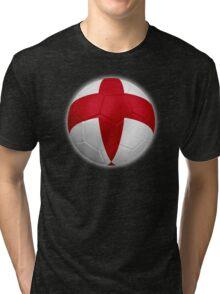 England - English Flag - Football or Soccer 2 Tri-blend T-Shirt