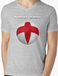 England - English Flag - Football or Soccer Ball & Text 2 T-Shirt
