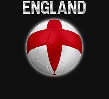 England - English Flag - Football or Soccer Ball & Text 2 Unisex T-Shirt