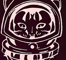 PINK SPACE CAT SMARTPHONE CASE (Graffiti) by leethompson