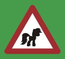 Pony Traffic Sign - Triangular Kids Clothes