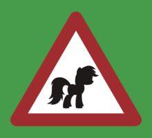 Pony Traffic Sign - Triangular One Piece - Short Sleeve