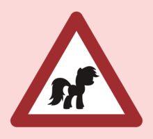 Pony Traffic Sign - Triangular Kids Clothes