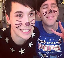 Dan & Phil (requested)  by kassyramone