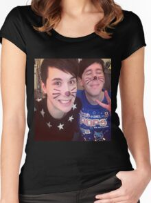 Dan & Phil (requested)  Women's Fitted Scoop T-Shirt