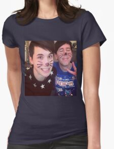 Dan & Phil (requested)  Womens Fitted T-Shirt