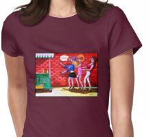 Stiletto Stagger Womens Fitted T-Shirt