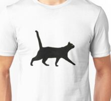 Black Cat Walkin' Unisex T-Shirt