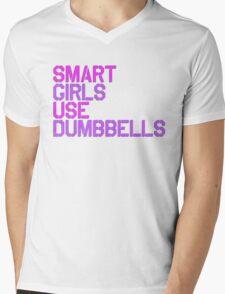 Smart Girls Use Dumbbells Mens V-Neck T-Shirt