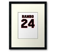 NFL Player Bacarri Rambo twentyfour 24 Framed Print