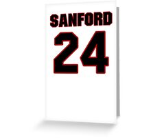 NFL Player Jamarca Sanford twentyfour 24 Greeting Card