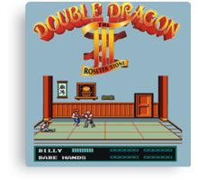 Double Dragon 3 Canvas Print