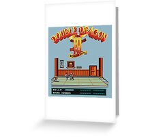 Double Dragon 3 Greeting Card