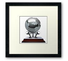 Glitch Trophies trophy street creator earth Framed Print