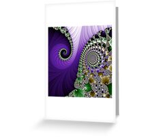 Fabulous Fractals  |  Purple Feathers Greeting Card