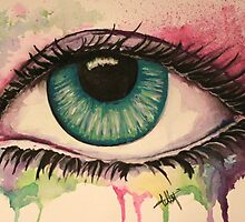 Watercolour Eye by TellyBean
